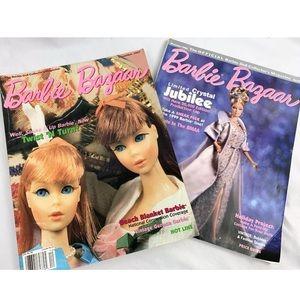Vintage Barbie Bazaar 90s Era Collectors Magazines
